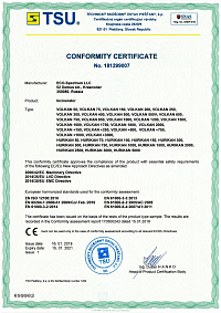 EUROPEAN CERTIFICATE OF CONFORMITY